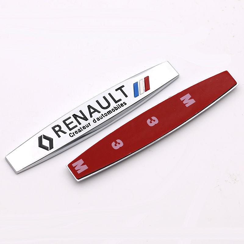 New Automobiles 3D Metal Car Sticker Car Covers for Renault duster megane 2 logan renault clio Decal Accessories Car Styling(China (Mainland))