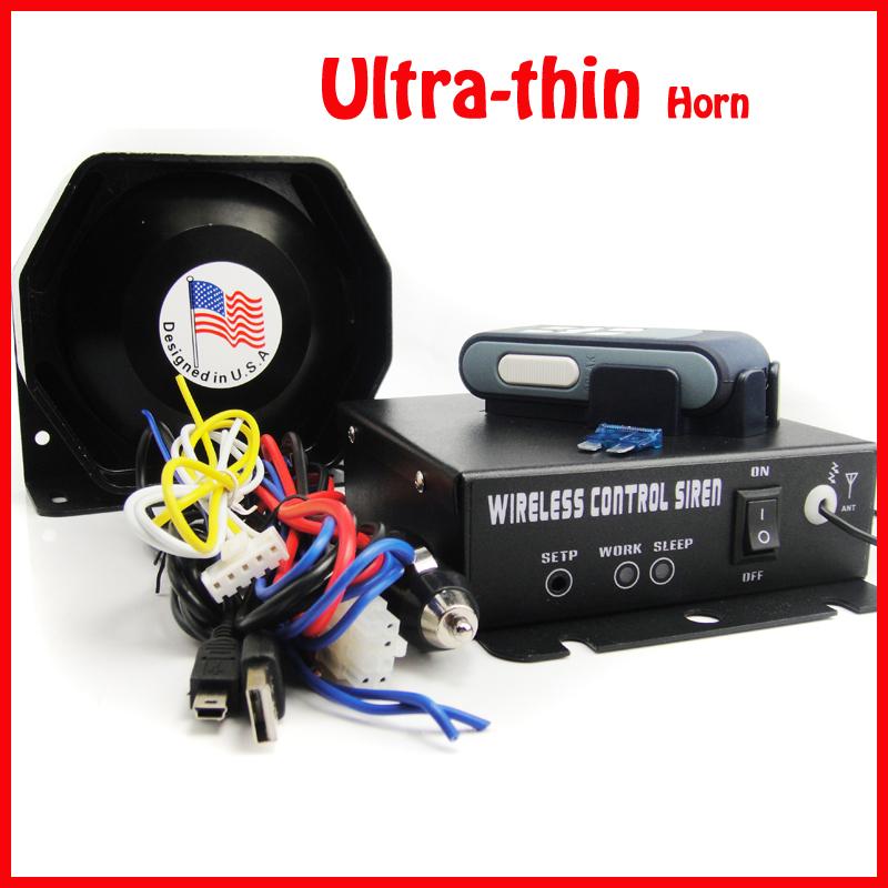 AS920 Car alarm 200w wireless alarm siren /horn loudspeaker /Speaker alarm/9 Tone / Hot Sale /ultra thin horn