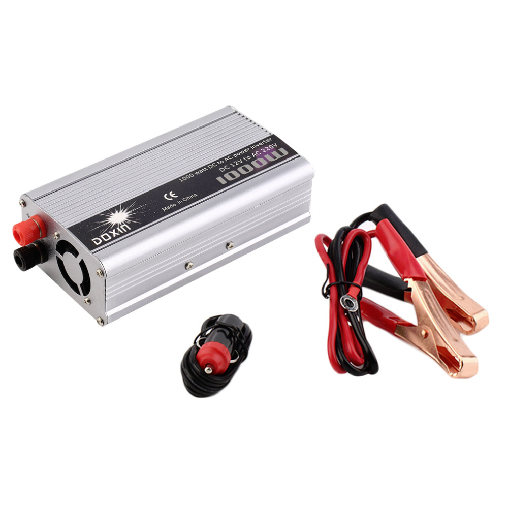 New Arrival DC 12V to AC 220V Portable Car Power Inverter Charger Converter 1000W WATT Top Sale(China (Mainland))