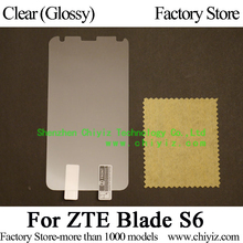Clear Glossy Screen Protector Guard Cover protective Film For ZTE Blade S6