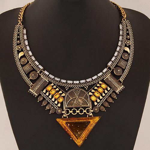 Ювелирных украшений Geometic макси заявление ожерелья для женщин мода колье Colar воротник ожерелье кольер Joyeria аксессуар
