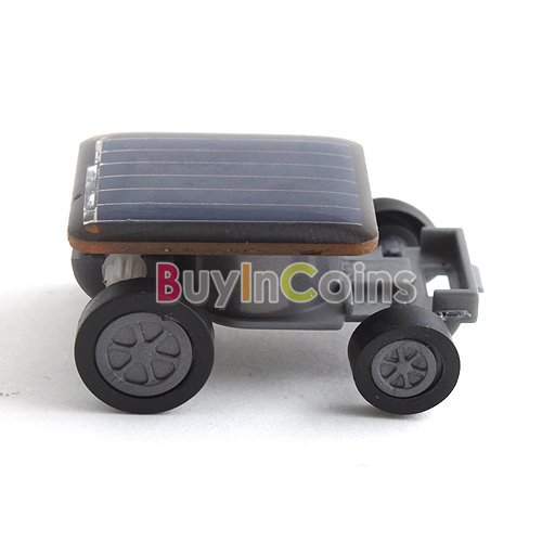 1Pcs/lot Mini Solar Power Energy Car Racer Moving Toy Children #3708