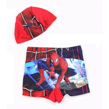 New 2016 Kids Boy Minions Swimwear Children Summer Fashion Spiderman Swimming Trunks Boys Bathing Swimsuit 2pcs