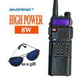 New Walkie Talkie Baofeng UV 8HX Baofeng UV 5r High Power 8w VHF UHF Ham Radio