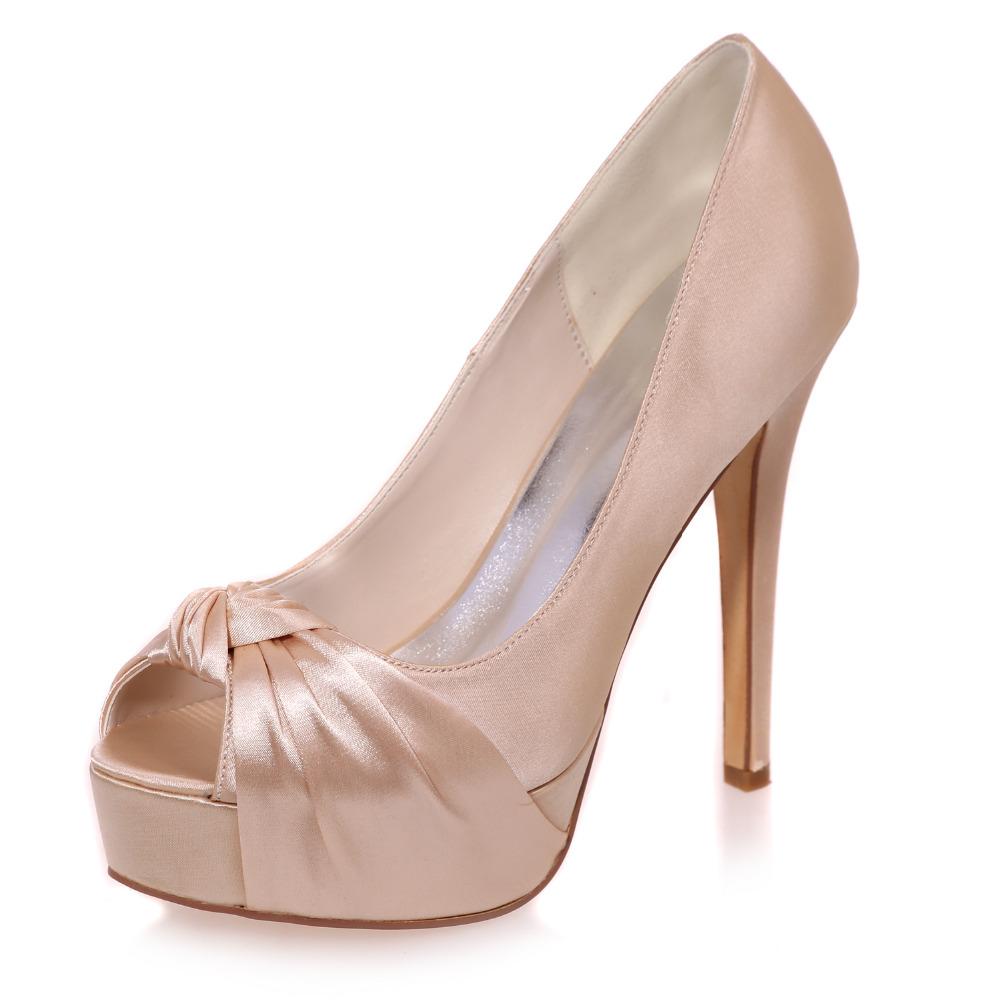 Silver High Heels Open Toe