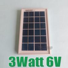 Hot Sale 3W 6V Polycrystalline silicon Solar cell Panel charge for 3.7V li Li-ion lithium LiFePO4 Battery