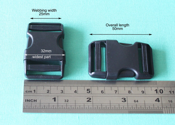 """25mm / 1""""(inch) Plastic Side Release Clip Buckles - (Pack of 50) - Hand Bag Hardware(China (Mainland))"""