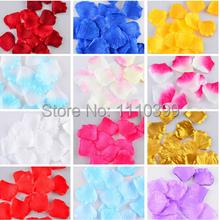 100 Pcs Silk Rose Petals Petalas Artificial Flower Wedding Accessories Party Decoration colorful