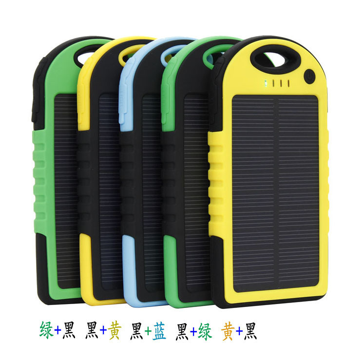 Coming! Solar Batteries Battery Power Bank Waterproof Portable Mobile Charger 5000 mAh Power Bank 5000mah Dust Proof Shack Proof(China (Mainland))