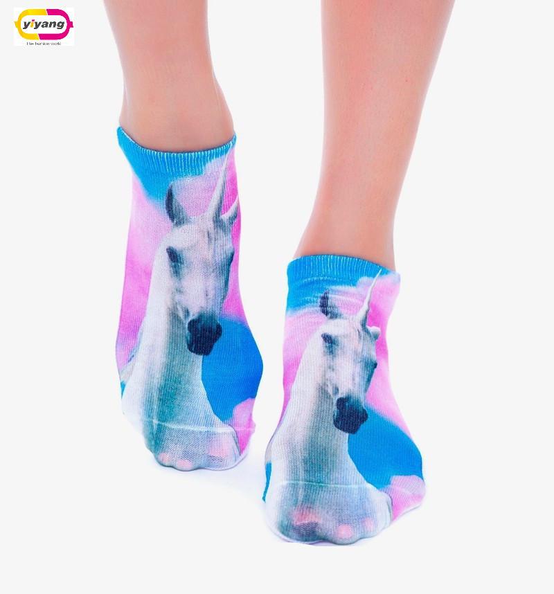 Multiple Colors Harajuku 3D Printed Food Women's Socks calcetines Casual Charactor Socks Unisex Low Cut Ankle Socks(China (Mainland))