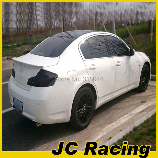 Superior material carbon fiber rear spoiler, rear trunk spoiler For Infiniti (Fit For Infiniti G25 G37 4D Only 2010UP)(China (Mainland))