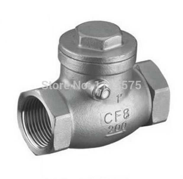 DN15 1/2 authentic 304 321 316 types stainless steel non return one way check water oil valve valves<br><br>Aliexpress