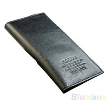 Men s Wallets Genuine Leather Long Wallet Casual Fashion Clutch Card Holder Suit Purses Bag 048G