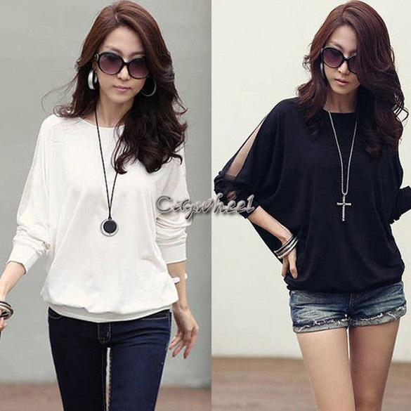 Retail women t shirt fashion trendy solid long sleeve for Trendy t shirts for ladies