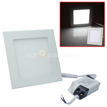 Home Office Ceiling Downlight 15W 75 LED Square Panel Lamp Recessed Light White(China (Mainland))