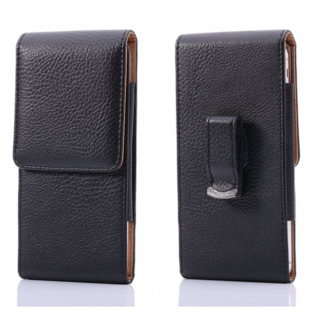 New Black Pouch Vertical Lychee Leather Case Belt Clip For iPhone ...