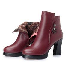 AIYUQI Genuino Stivali di pelle Delle Donne Più Pattini di Formato 43 Punta Rotonda tacco Quadrato scarpe delle signore di Modo Casual alla caviglia stivali(China)