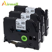 Buy Airmall 3 Pack Compatible For Brother P-Touch Laminated Tze Tz Label Tape Cartridge 9mm x 8m (TZe-221 Black on White) for $11.49 in AliExpress store