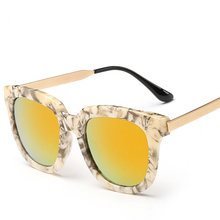 Retro Sunglasses Vintage Glasses Steampunk Gafas Polar Sunglass Hipster Square Fashion Marble Box Occhiali Da Sole Star Models