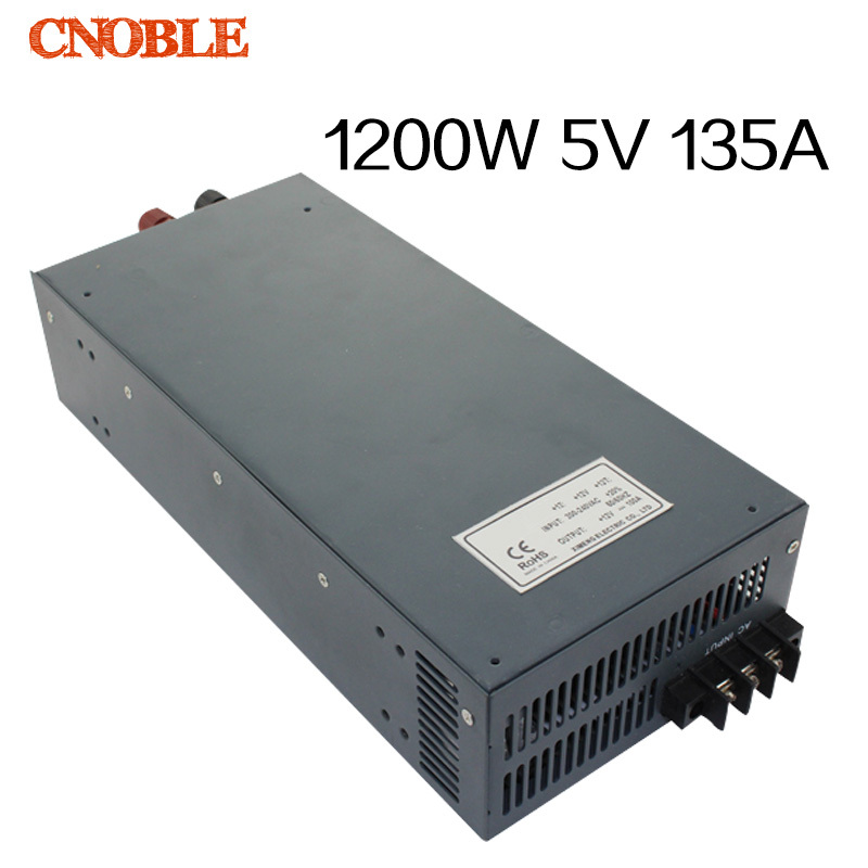 1200W 5V 135A adjustable 110V or 220V input Single Output Switching power supply for LED Strip light AC to DC<br><br>Aliexpress