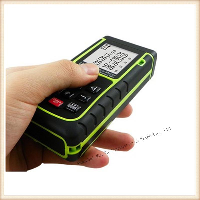 2015 new measure tool laser distance meter  snday 40m green and black rangefinder Max  range is 40m digital Tape Measure Hotsale