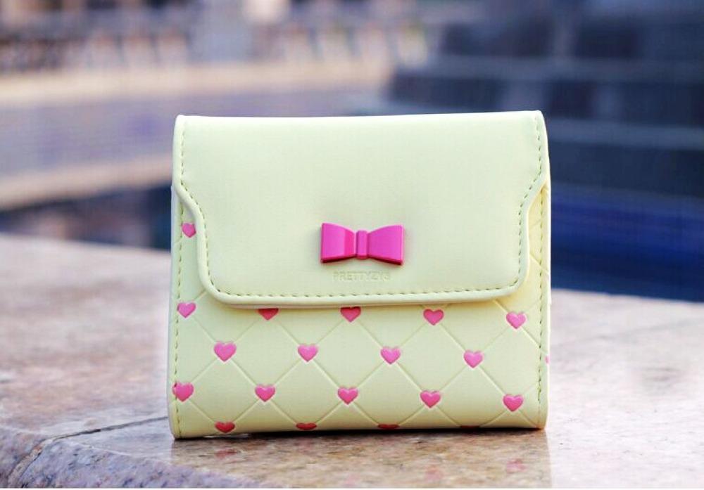 Fashion Lucky mini bow women wallets tough PU leather purse for women 2015 brand wallet women(China (Mainland))