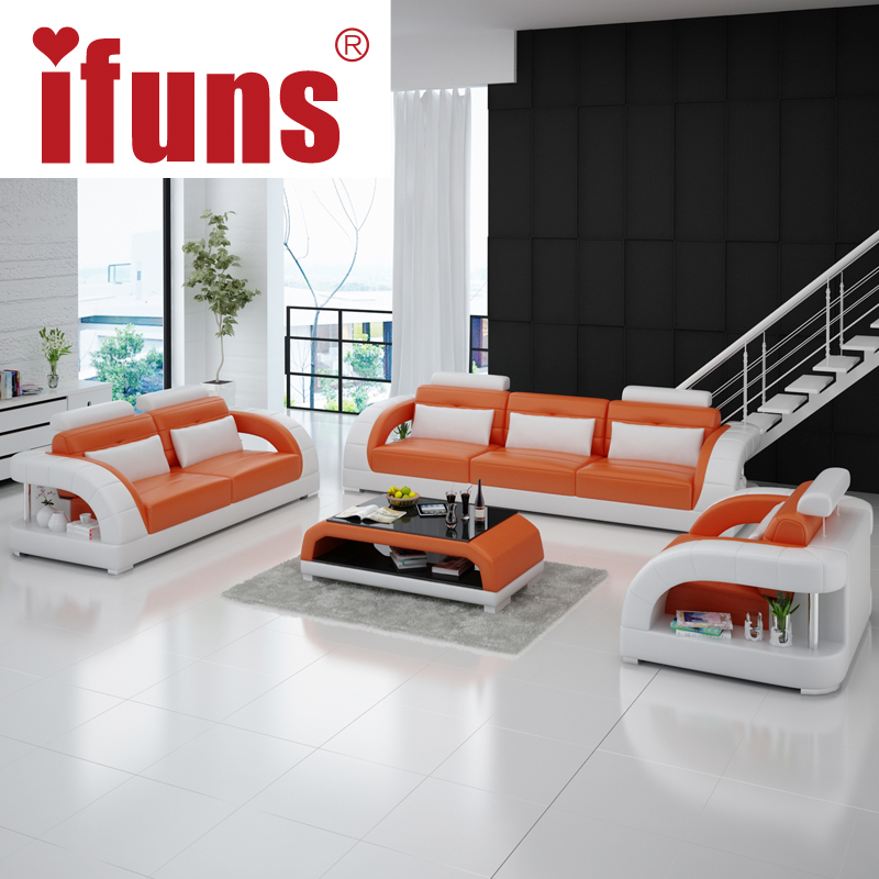 IFUNS minimalist modern living room furniture,simple floor sofa set,best top grain real leather sectional sofas(China (Mainland))
