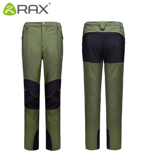 Ourdoor Pants Men Surface Waterproof Hiking Pants Men Windproof Fleece Camping Softshell Trekking Pants Men Pantalon Hombre