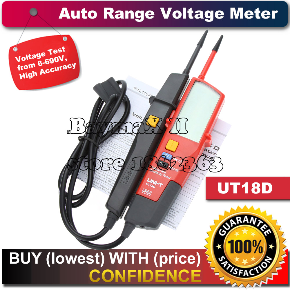 UNI-T UT18D Auto Range Voltage Tester from 6 to 690V with LCD Backlight Date Hold RCD Test and Self-inspection<br><br>Aliexpress