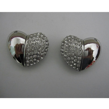 Wholesale Price Full Capacity 4GB Heart Shape Jewelry Usb Flash Drive Free Shipping