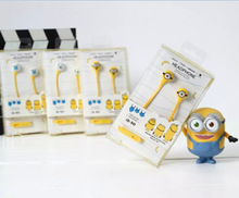 2016 Minions In-Ear stereo earphone for Iphone 6s samsung xiaomi LG Huawei HTC cartoon earbuds for kids best gift ID50
