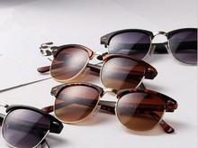 Free Shipping Mens Womens Retro Half frame Sunglasses Wayfarer Frame Glasses
