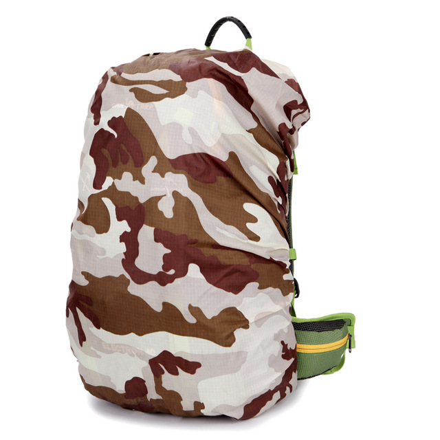 1 шт. нейлон камуфляж дождевик 30-40L переносной водонепроницаемый рюкзак мешок дождь ...