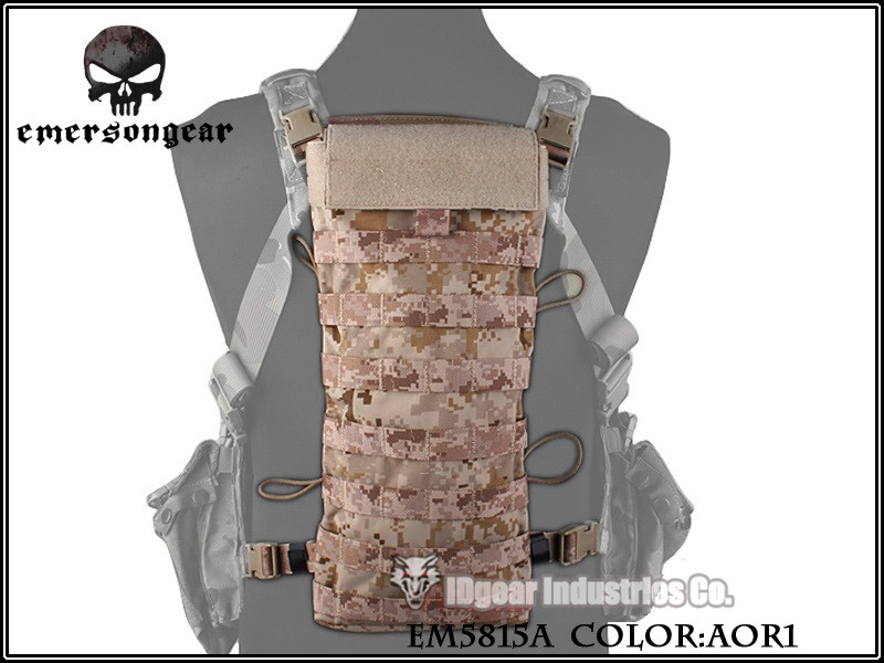 emersongear LBT 2649E Style 2.5L Hydration Backpanel MOLLE Pouch Camping Water Bag EM5815A AOR1(China (Mainland))