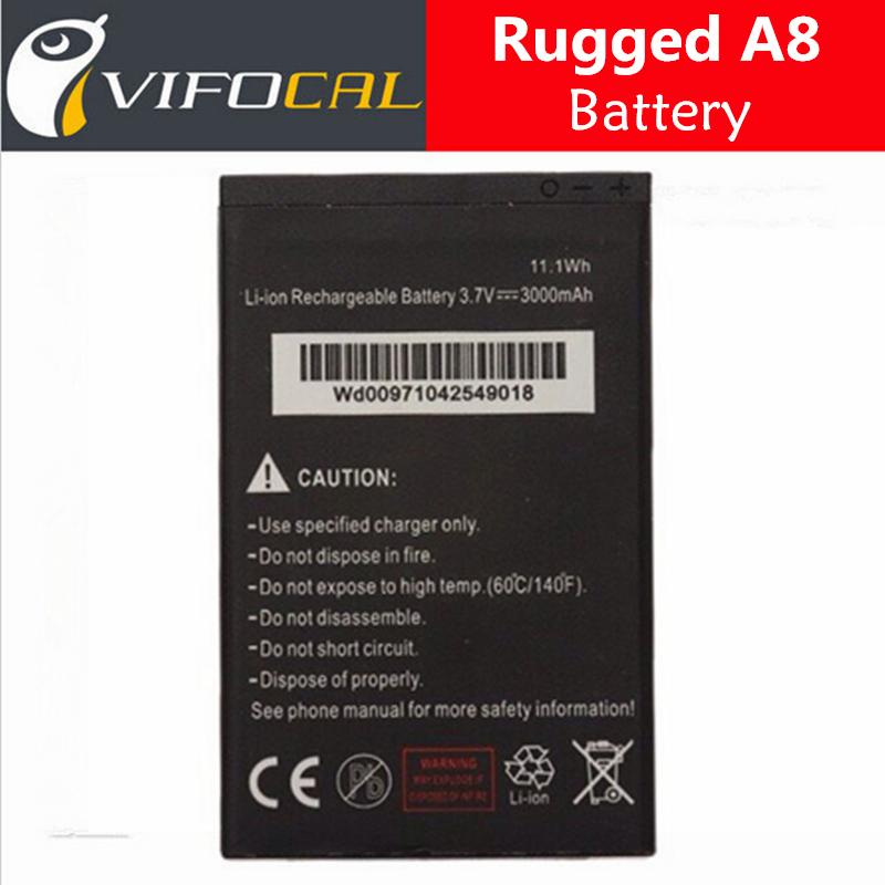 Оригинал 100% Новый высокое качество замены батарей для прочный Водонепроницаемый Телефон А8 3000мач резервного копирования Батерия Batterij