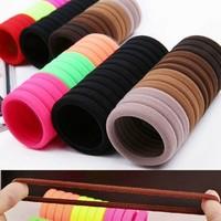 10 pz/lotto candy fluorescenza colorato titolari dei capelli di alta qualità elastici elastici per capelli accessori ragazza donne tie gum