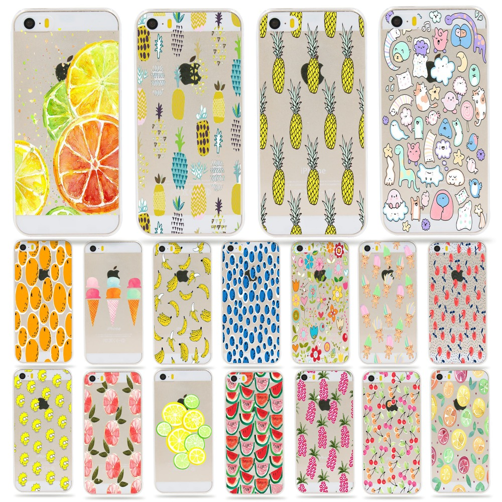 Hot Sale Watermelon Lemon Fruits Photo Back Cover soft/hard Shell Fundas Coque For Apple Iphone 5 5s Se Silicone Cell Phone Case(China (Mainland))