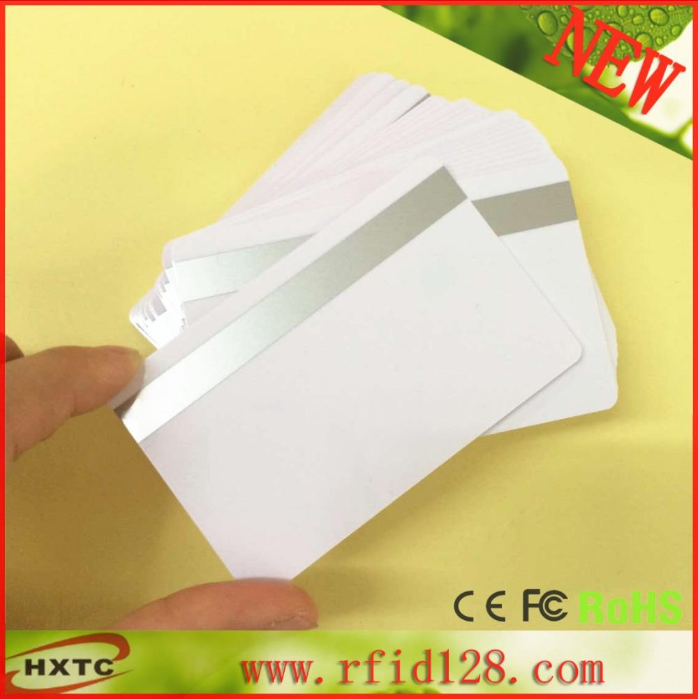 20pcs/lot Track 1 track 2 Hi-co 8.4mm size Magstripe PVC IC Card for Zebra Fargo Prima ID printer(China (Mainland))