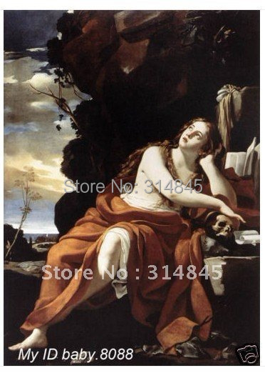Handicraft repro oil painting : St Mary Magdalene #1986+framed 24x36 inches(China (Mainland))