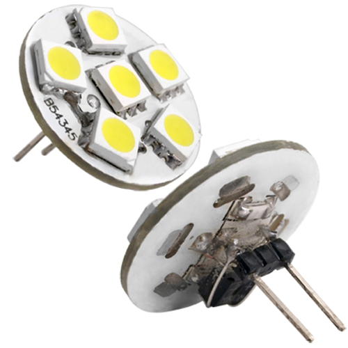 12 Volt Marine Lights: G4 6 SMD LED Warm White Marine Light Bulb Lamp DC 12 Volt