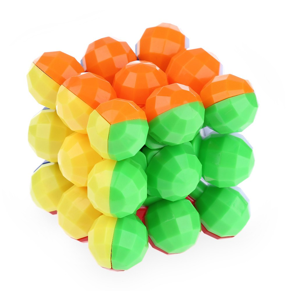 Professional Magic Cube 3 x 3 x 3 Colorful Cool Brain Teaser Balls Style Magic Cube Style Learning & Education Toys Kids Gifts(China (Mainland))