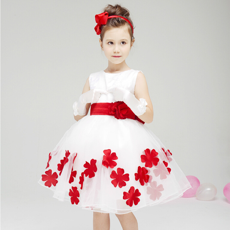 High Quality Flower Girl Dresses Children Kids Wedding