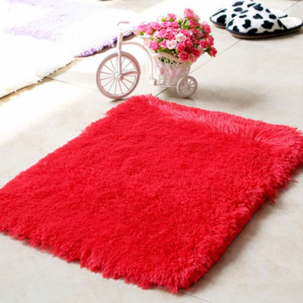 Cheap Hot Fluffy Rugs Antiskiding Shaggy Area Rug Dining Room Carpet Floor  Mat Red Shaggy Rugs Shag Rugs A With Pink Shaggy Rugs