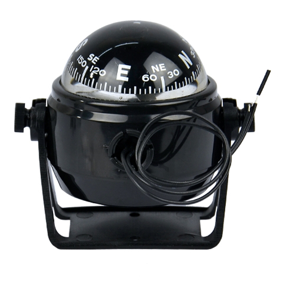 black Electronic Compass Sea Marine Digital marine compass Boat Caravan Truck Vehicle-bornr Type Compass 12V LED Light(China (Mainland))