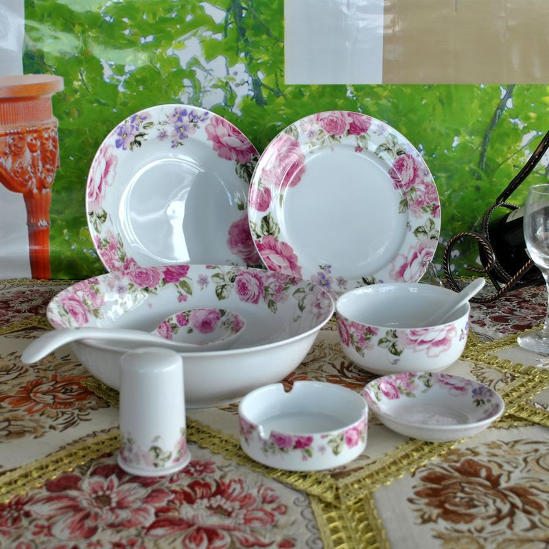 Supply of Gone with the Wind Jingdezhen 28 bone china tableware suit Korean wedding gift unleaded 3133 #