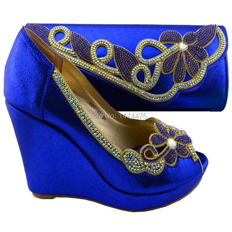 top quality Italian ladies shoes and matching bag set,latest pattern rhinestones high heel party shoes 1308-L63 size 38-42<br><br>Aliexpress