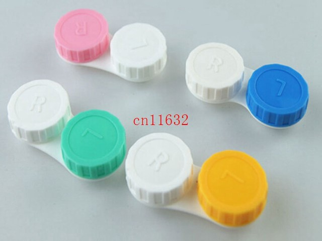 Free Shipping Travel Glasses Contact Lenses Box Bottle Contact lens Case for Eyes Care Kit Holder Container Gift,2000pcs/lot