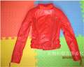 Black red natural sheepskin coat genuine leather coats slim women s stand collar motorcycle leather jackets