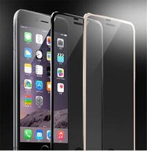 Ultra Slim Titanium Alloy metal 3D Tempered Glass Radian Edge Screen Protector Toughened protective film For iphone 6 6s 4.7″