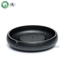 Black Zen Ceramic Teapot Cushion Teacup Coaster Pottery Drip Tray Kungfu Teaware(China (Mainland))